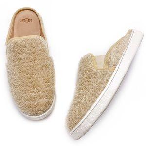 UGG Luci Fuzzy Slip On Sneaker Mules Slides 7